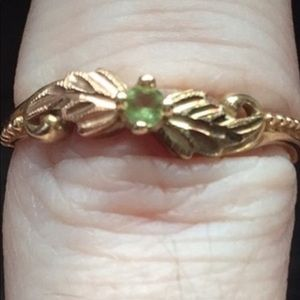 10K solid gold peridot ring.